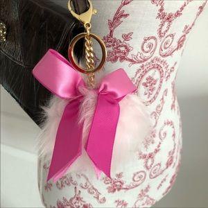 UGG pink bow keychain